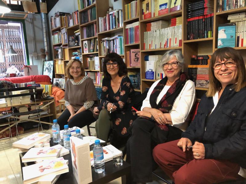 Mujeres en Construcción presentación Librería de Mujeres Juana Espín Lu Hoyos Malín Simón Felicidad Batista